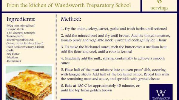 Recipe card lasagne large