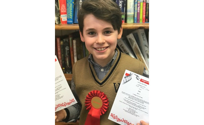 Rafe wins short story writing competition