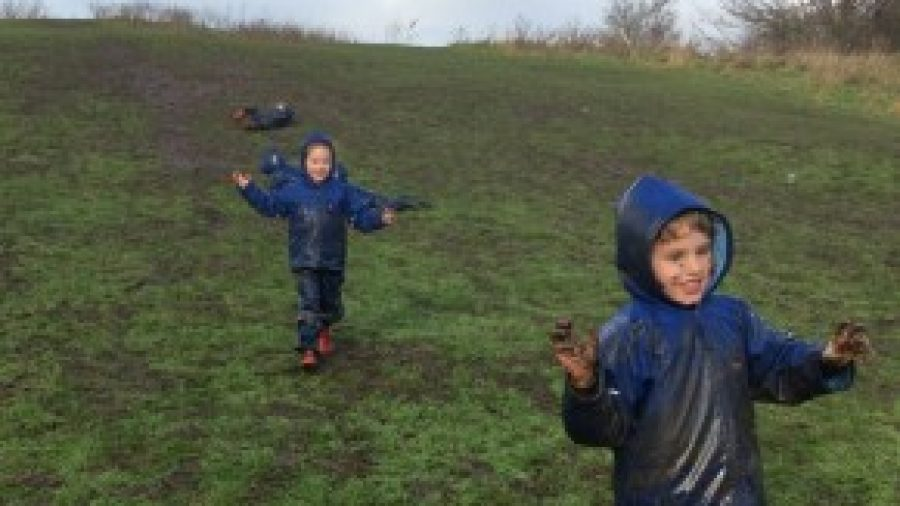 Reception Forest School: Maps, and The Muddiest Day Ever!