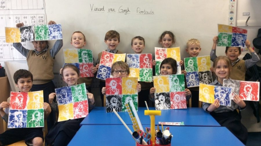 Year Two inspired by Van Gogh