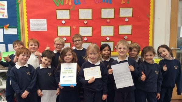Success for Year 1 in Young Writers competition