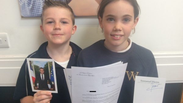 Pupils Receive Signed Letter From French President