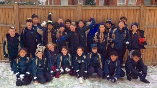 Wandsworth Prep in the Snow