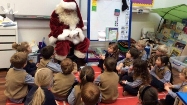Father Christmas visits Wandsworth Prep